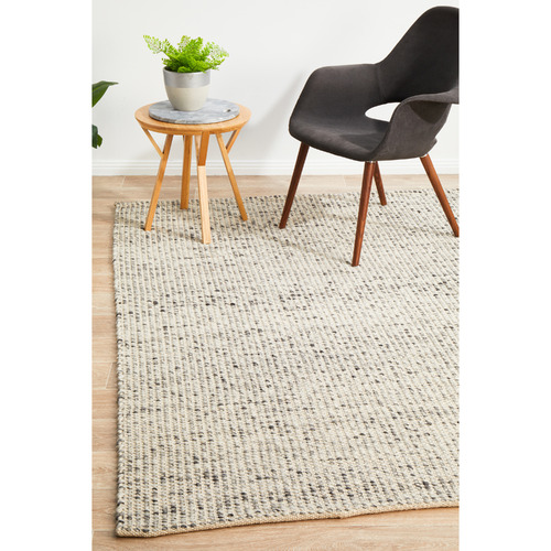 Network Rugs Carlos Felted Wool Rug Grey Natural