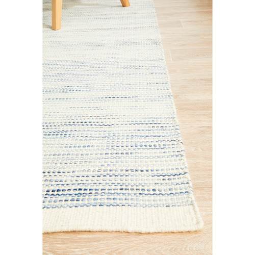 Network Rugs Blue Mani Scandinavian Pure Wool Rug