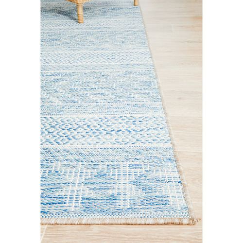 Network Rugs Blue & Natural Flat-Woven Rug