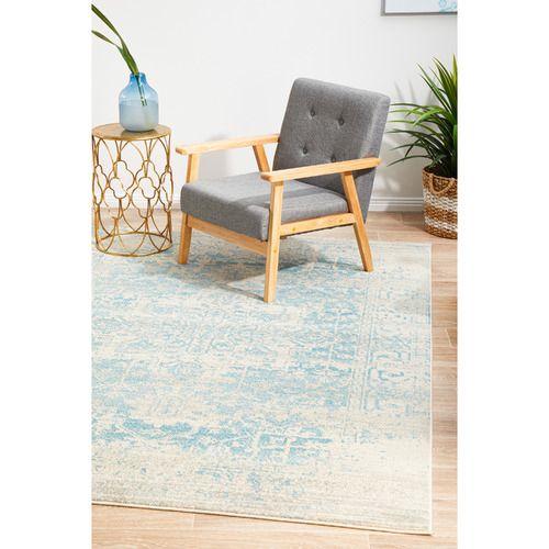 Network Rugs Bone, White & Blue Art Moderne Cezanne Rug