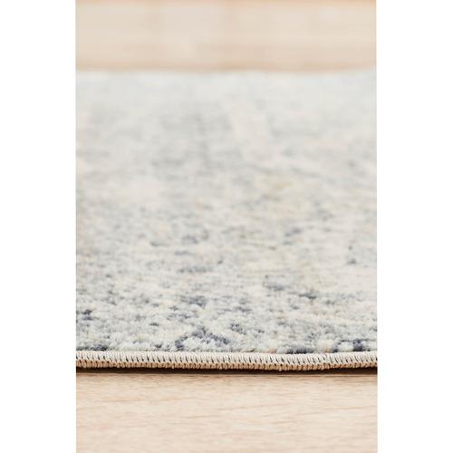 Network Rugs Vannessa Navy, Cream & Beige Chenille Cotton Modern Rug