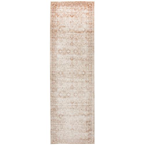 Network Rugs Tandy Cream, Beige & Navy Chenille Cotton Modern Rug