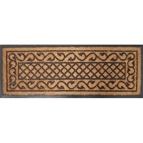 Solemate Door Mats Rubber and Coir Check Vine Door Mat