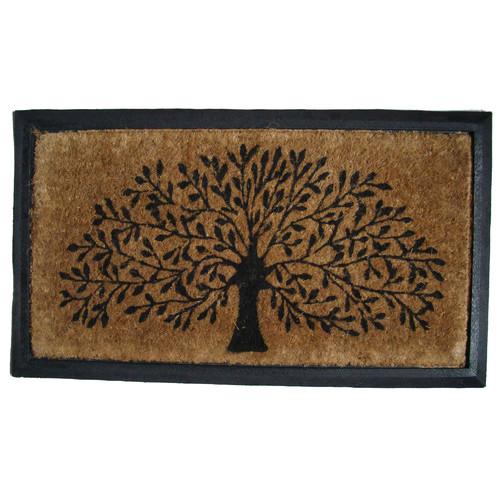 Solemate Door Mats Rubber and Coir Tree of Life Door Mat