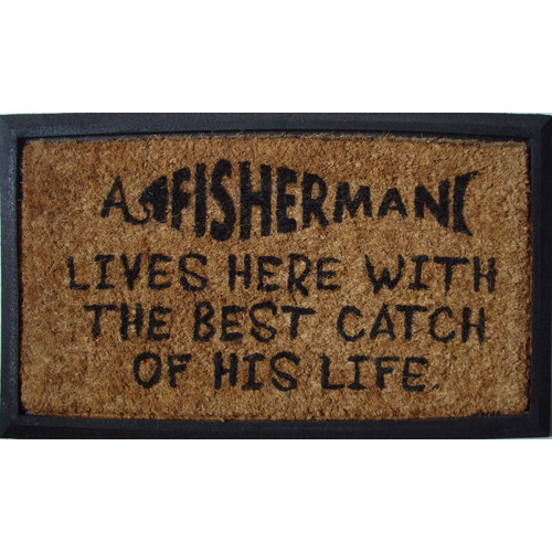 Solemate Door Mats Rubber and Coir Catch of His Life Door Mat