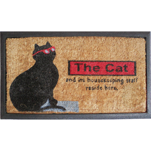 Rubber And Coir The Cat Door Mat | Temple U0026 Webster