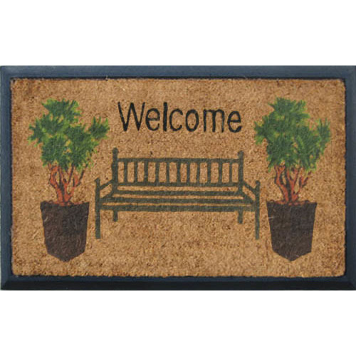 Solemate Door Mats Rubber and Coir Welcome Bench Door Mat