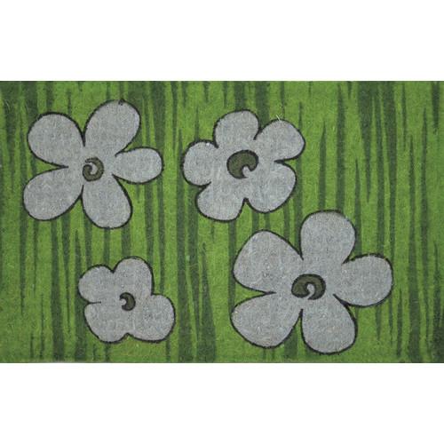 Solemate Door Mats FM2 Coir Blue Flowers