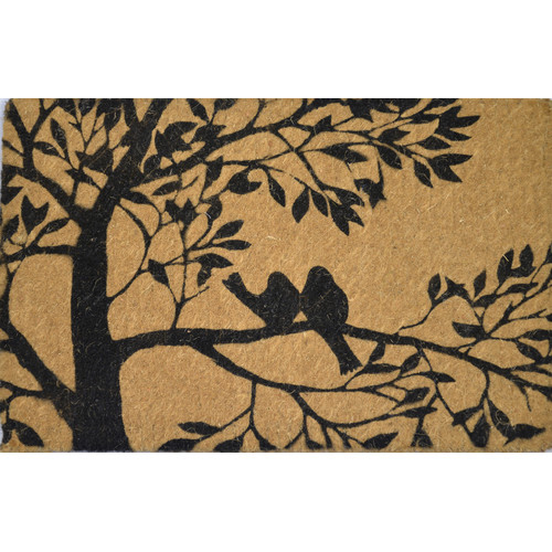Solemate Door Mats FM2 Coir Bird Tree