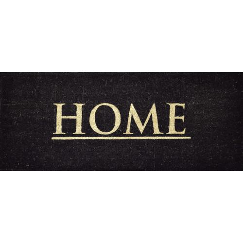 Solemate Door Mats PVC Coir Home Black