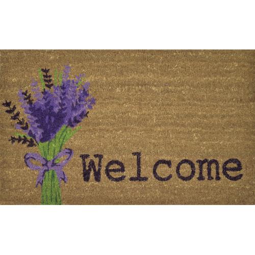 Solemate Door Mats PVC Back Lavender Coir