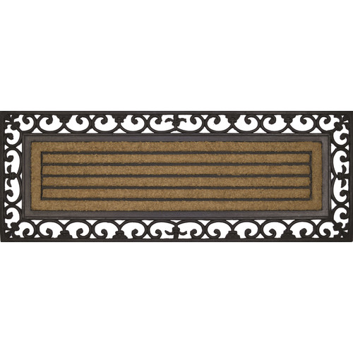 Solemate Door Mats Rubber&Coir RibbedWide