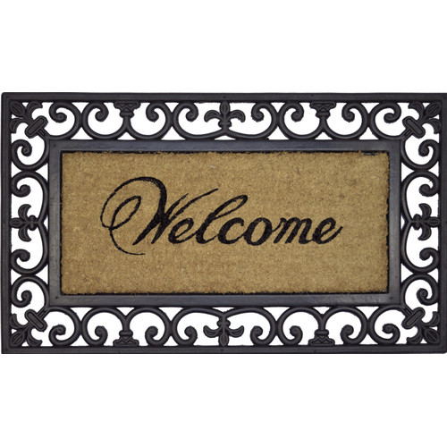 Solemate Door Mats Rubber&Coir Welcome