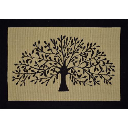 Solemate Door Mats Jute Lat/B Tree Black