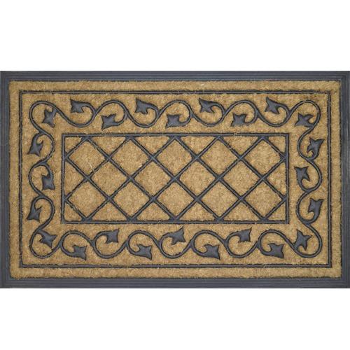 Solemate Door Mats Check Vine Coir Doormat