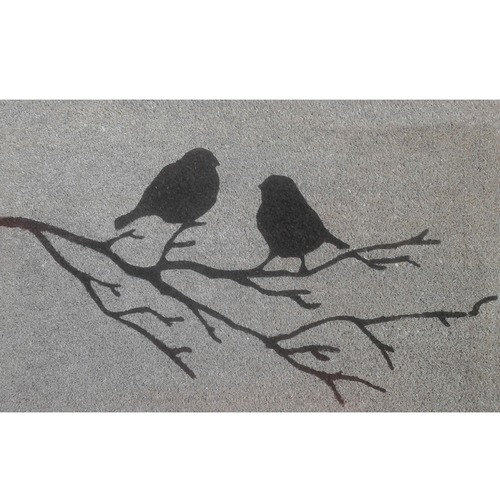 Solemate Door Mats Birds on Branch Coir Doormat