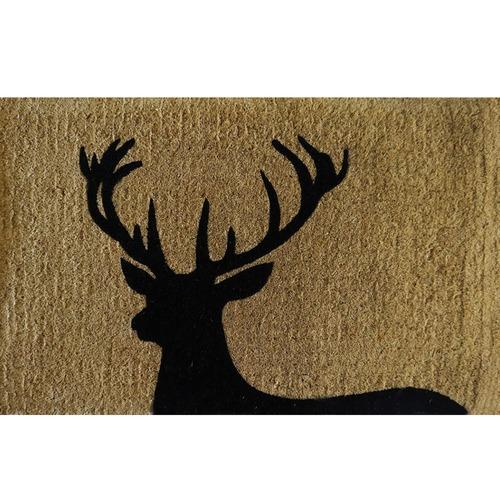Solemate Door Mats Black Deer Premium Coir Doormat