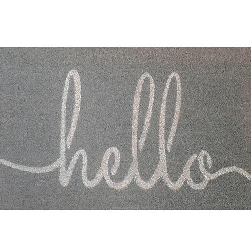 Solemate Door Mats Grey Hello Coir Doormat
