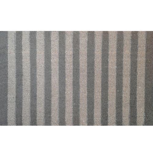 Solemate Door Mats Grey Stripes Coir Doormat