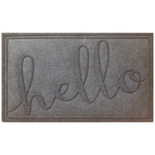 Solemate Door Mats Charcoal Hello Cato Doormat