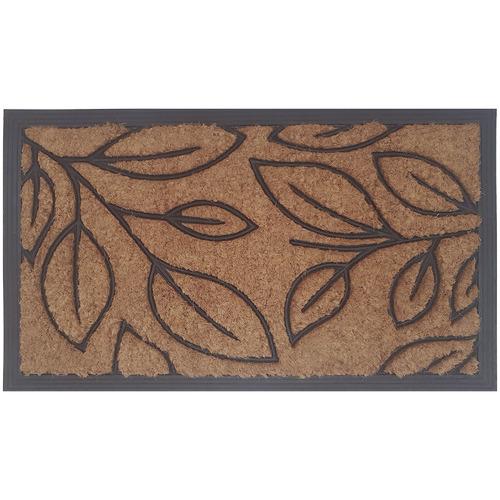 Solemate Door Mats Brown Botanical Coir Doormat