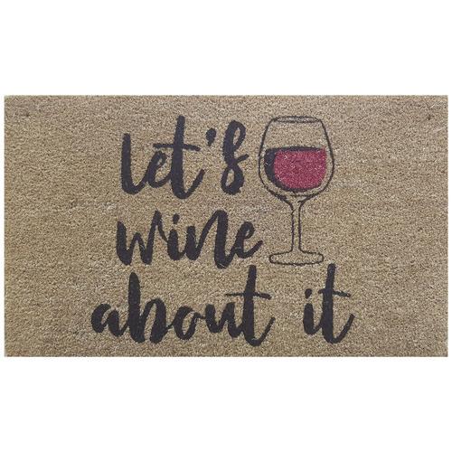 Solemate Door Mats Gwendall Let's Wine About It Coir Doormat