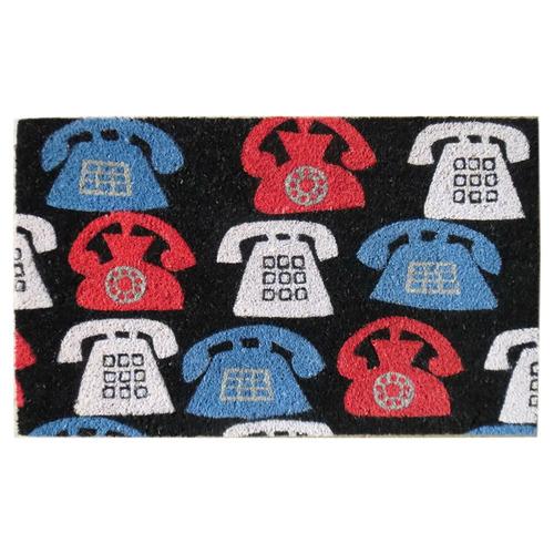 Multi-Colour Phones Coir Doormat