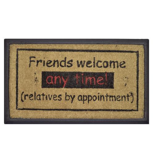 Rubber and Coir Friends Welcome Door Mat
