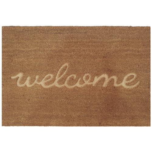 Natural Embossed Welcome Doormat