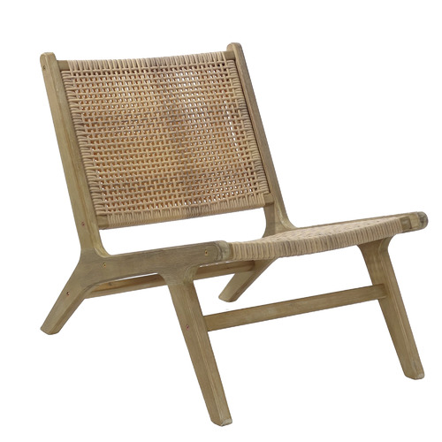 Hartman Natural Flores Wicker Outdoor Lounge Chair