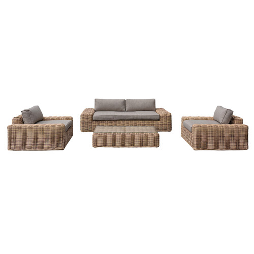 4 Seater Natural Yates PE Wicker Outdoor Sofa Set