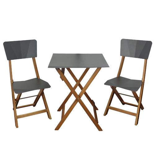 2 Seater Origami Acacia Wood Outdoor Bistro Set