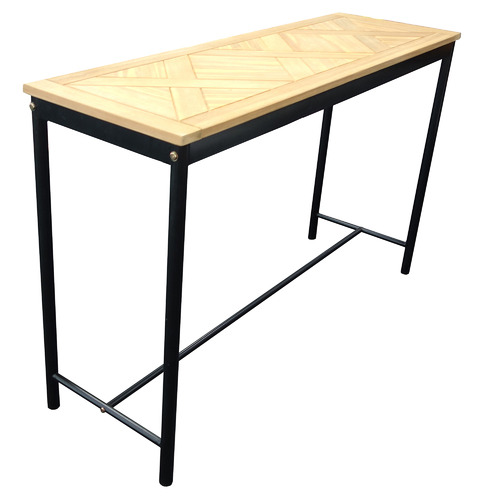 Hartman Natural Parquetry Metal Outdoor Console Table