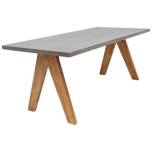 Hartman Delta Cement Top Outdoor Dining Table