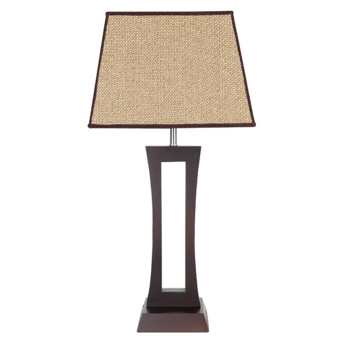 V & M Imports Trio Table Lamp in Chocolate