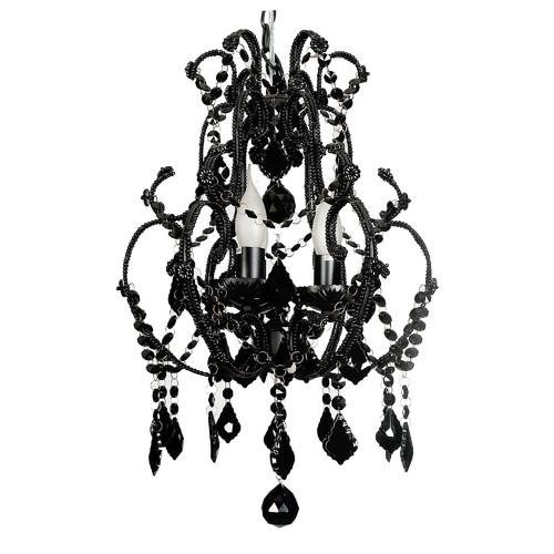 V & M Imports Venice 3 Light Cage in Black