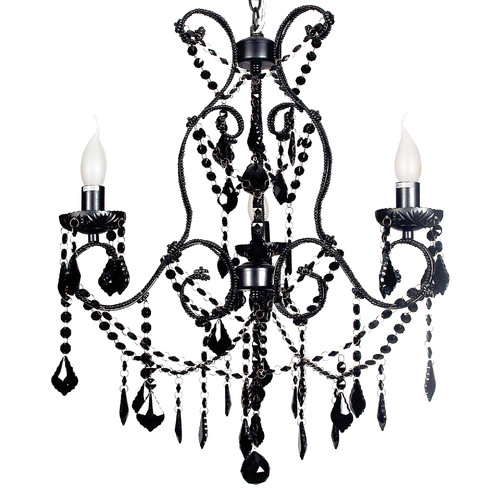 V & M Imports Venice 3 Light Pendant in Black