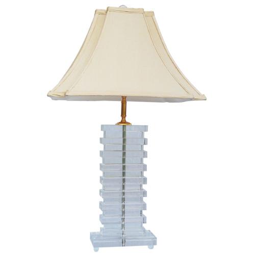 V & M Imports Fontana Crystal Table Lamp