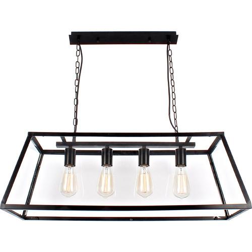 V & M Imports Creswick Vintage Glass Pane 4 Light Long Pendant