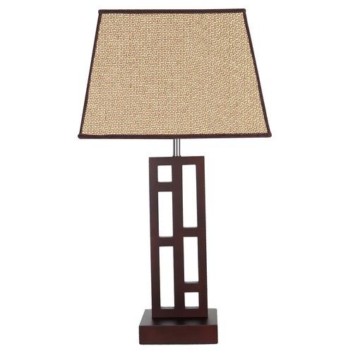 V & M Imports Chocolate Fuji Table Lamp