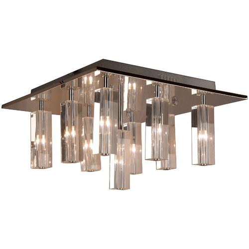 V & M Imports Cubo 9 Crystal Globe Semi Flush Mount Light