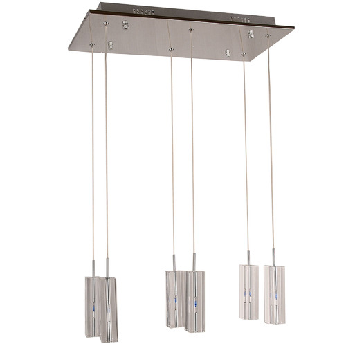V & M Imports Cubo 6 Light Crystal Pendant