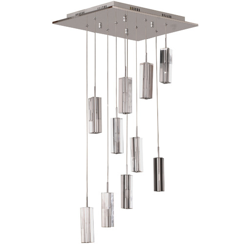 V & M Imports Cubo 10 Light Crystal Pendant