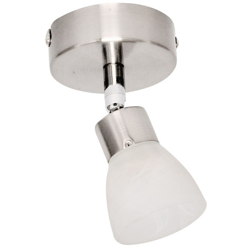 V & M Imports White Alabaster 1 Light Halogen Track Light