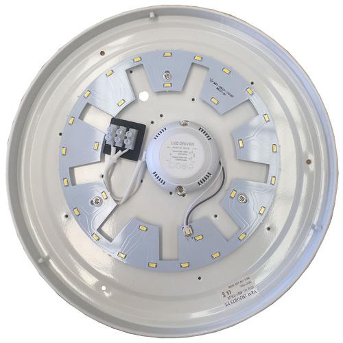 V & M Imports Opal White Gio LED Oyster Light