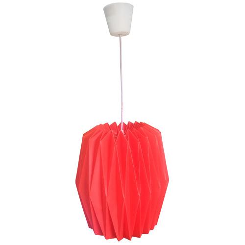 V & M Imports Coral Red Okuma Pendant Light