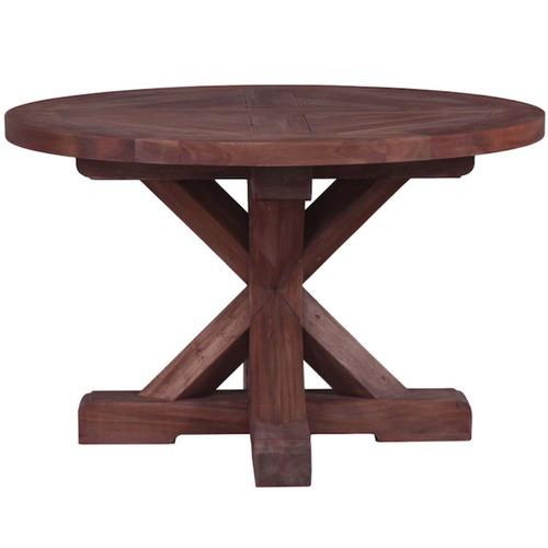 Round Trestle Mahogany Dining Table