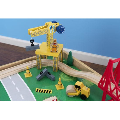 KidKraft Waterfall Mountain Train Table And 120 Pieces Set