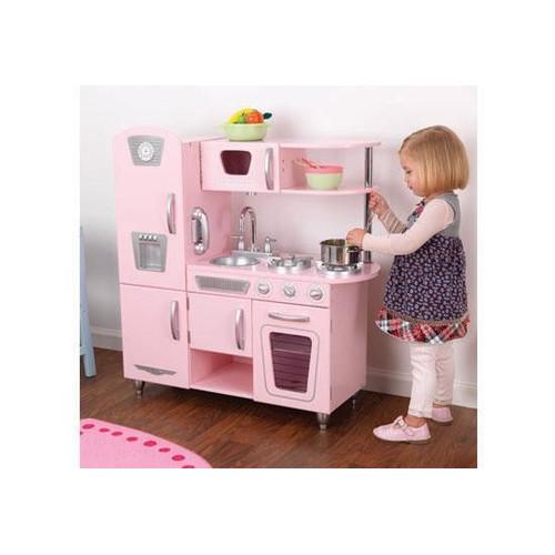 Vintage Play Kitchen In Pink