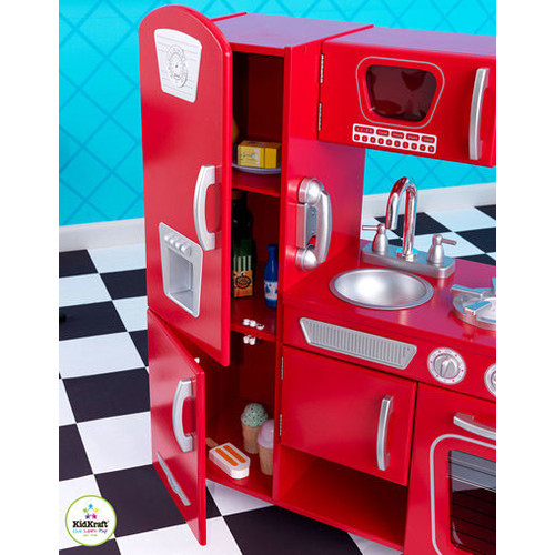 KidKraft Vintage Play Kitchen in Red